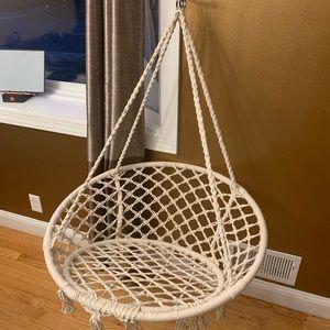 Never used Macrame Swing Chair